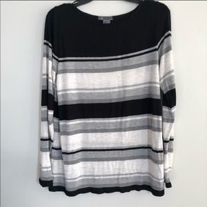 Vince Striped Long-Sleeved Top Size Small
